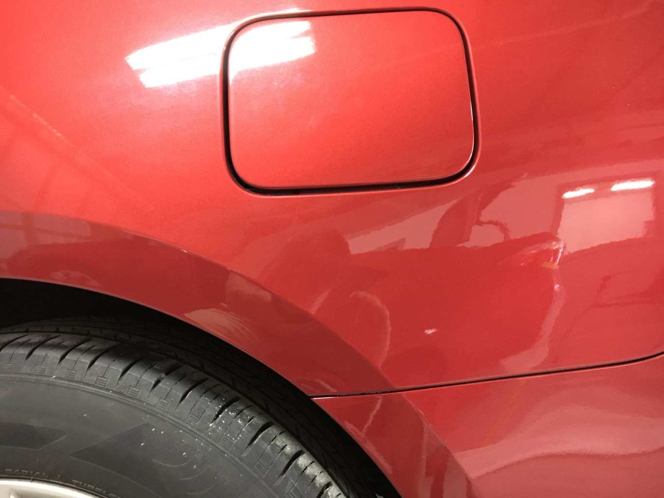 Paintless Dent Repair Grand Rapids, Michigan: Car quarter panel - after