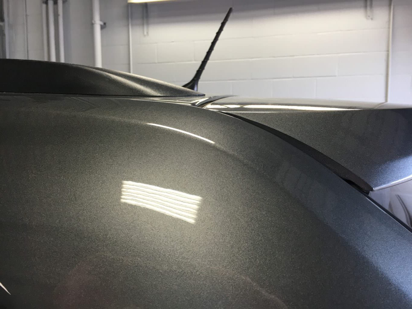 Paintless Dent Repair Grand Rapids, Michigan: SUV roof rail - after