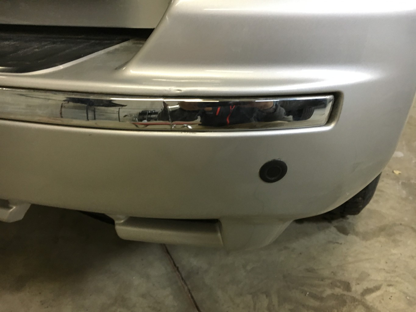Paintless Dent Repair Grand Rapids, Michigan: 4Runner bumper - after