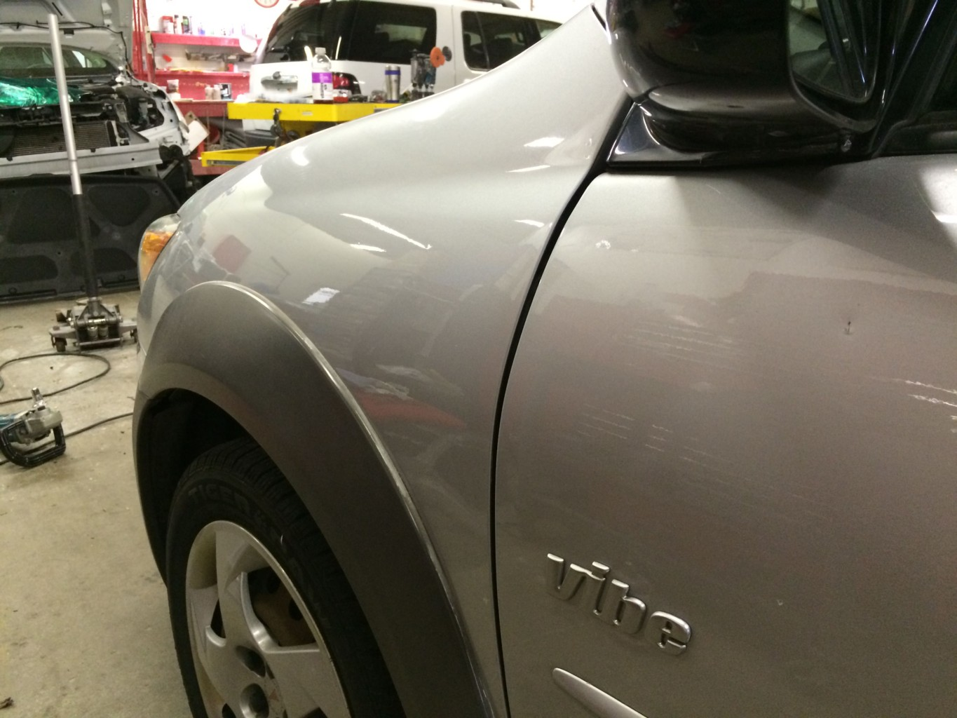 Paintless Dent Repair Grand Rapids, Michigan: Vibe fender - after