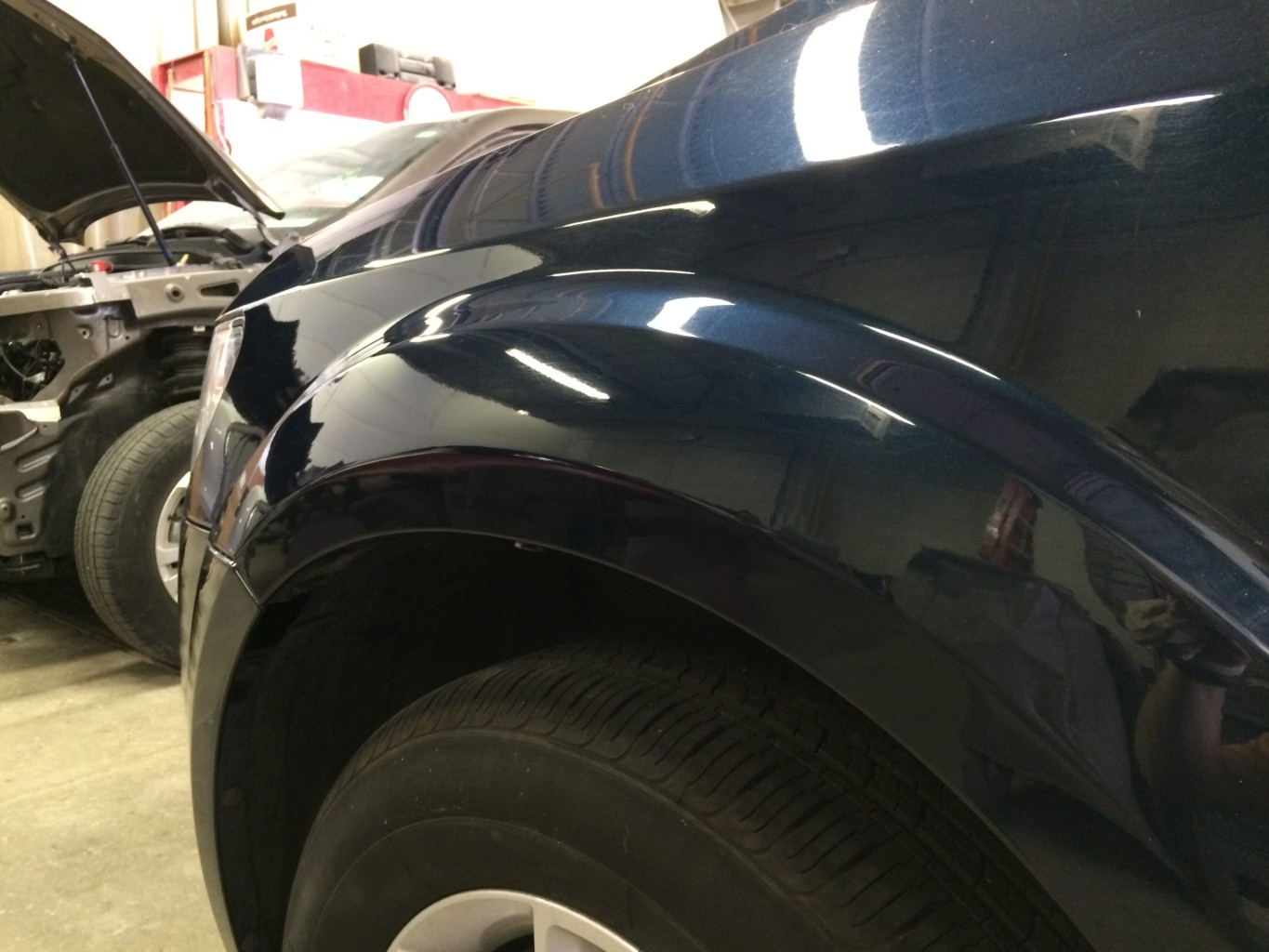 Paintless Dent Repair Grand Rapids, Michigan: Journey fender - after