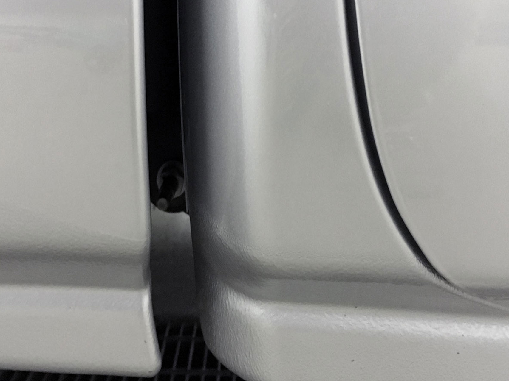 Paintless Dent Repair Grand Rapids, Michigan: Silverado cab corner - after